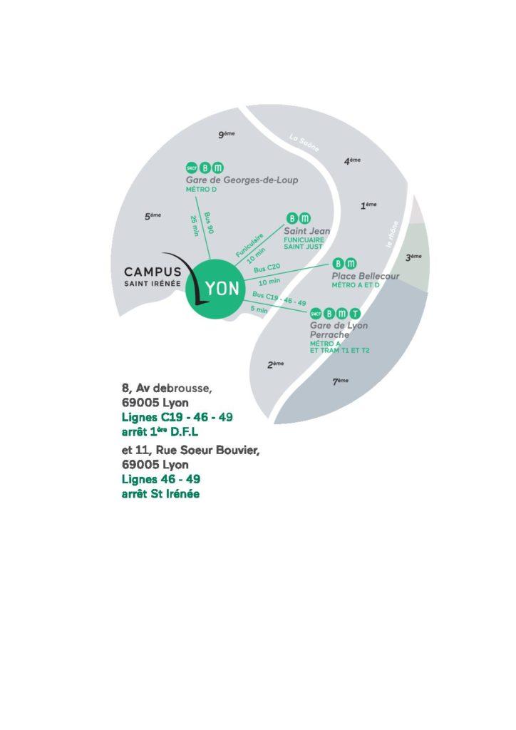 3162b77bc24 Informations Pratiques - Campus Lyon Saint-Irénée